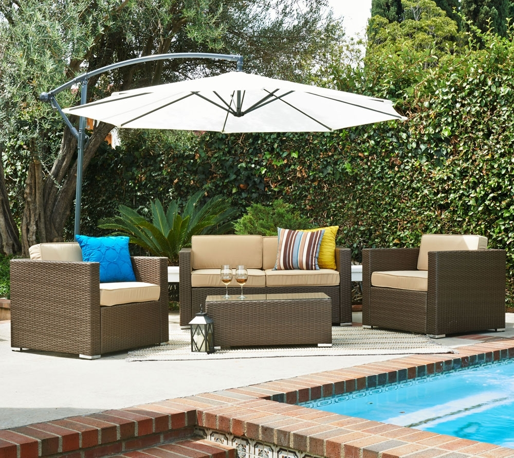 Patio Conversation Sets With Umbrella Throughout Most Up To Date Target Patio Furniture Lowes Outdoor Furniture Patio Conversation (View 16 of 20)