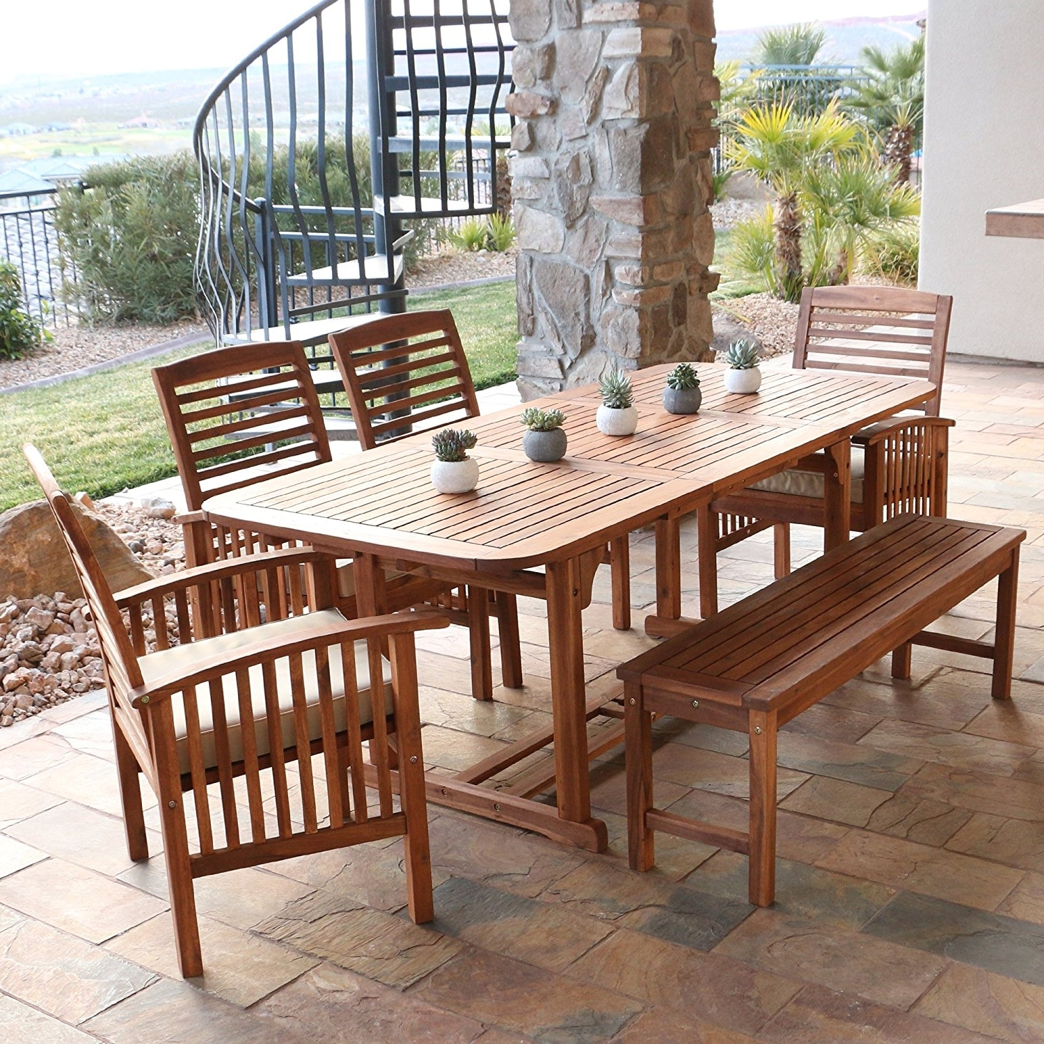 Patio : Dinette And Patio Dining Sets With Cushions Set For Small Intended For Preferred Patio Conversation Dining Sets (View 3 of 20)