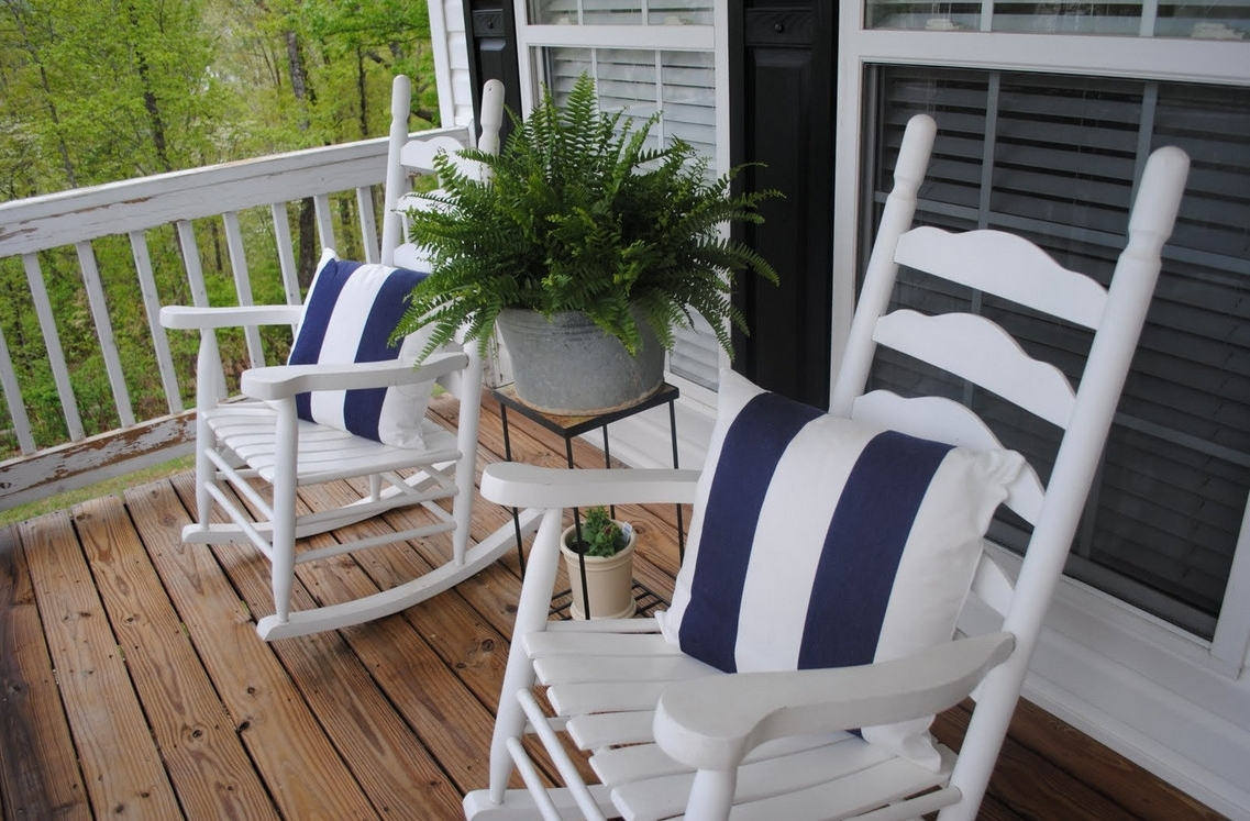 Patio: Enchanting Front Porch Furniture Sets Patio Furniture Home In Favorite Small Patio Rocking Chairs (View 8 of 20)