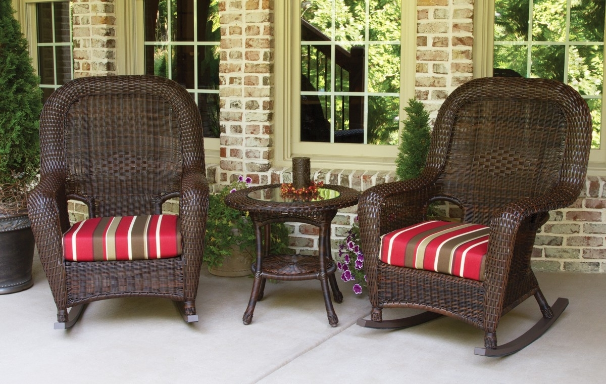 Patio Furniture And Decor, Patio Swings And Furniture With Latest Rattan Outdoor Rocking Chairs (View 10 of 20)