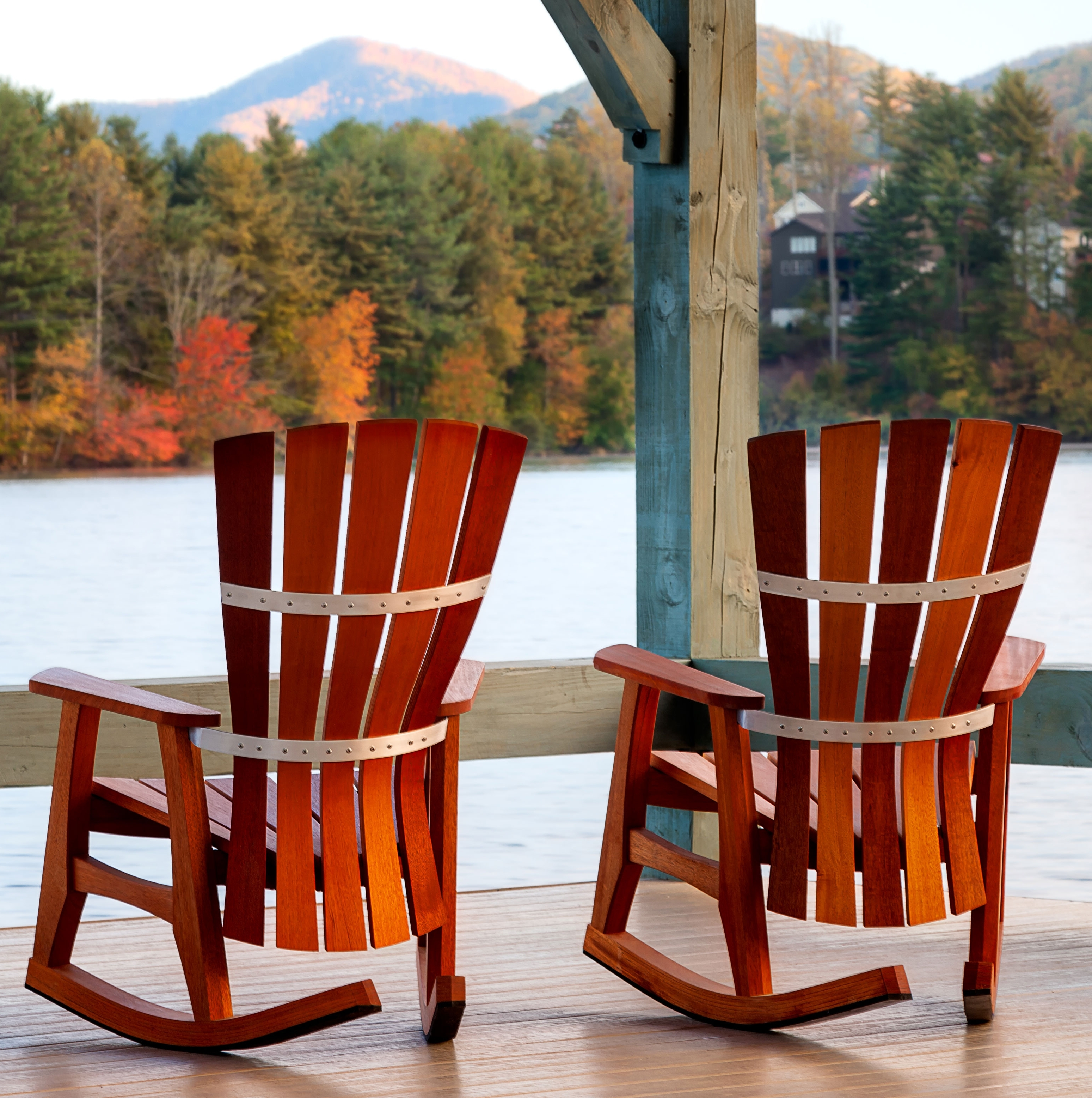 Patio Furniture Rocking Chair Fibreglass Iron And Birch Material Intended For Trendy All Weather Patio Rocking Chairs (View 9 of 20)