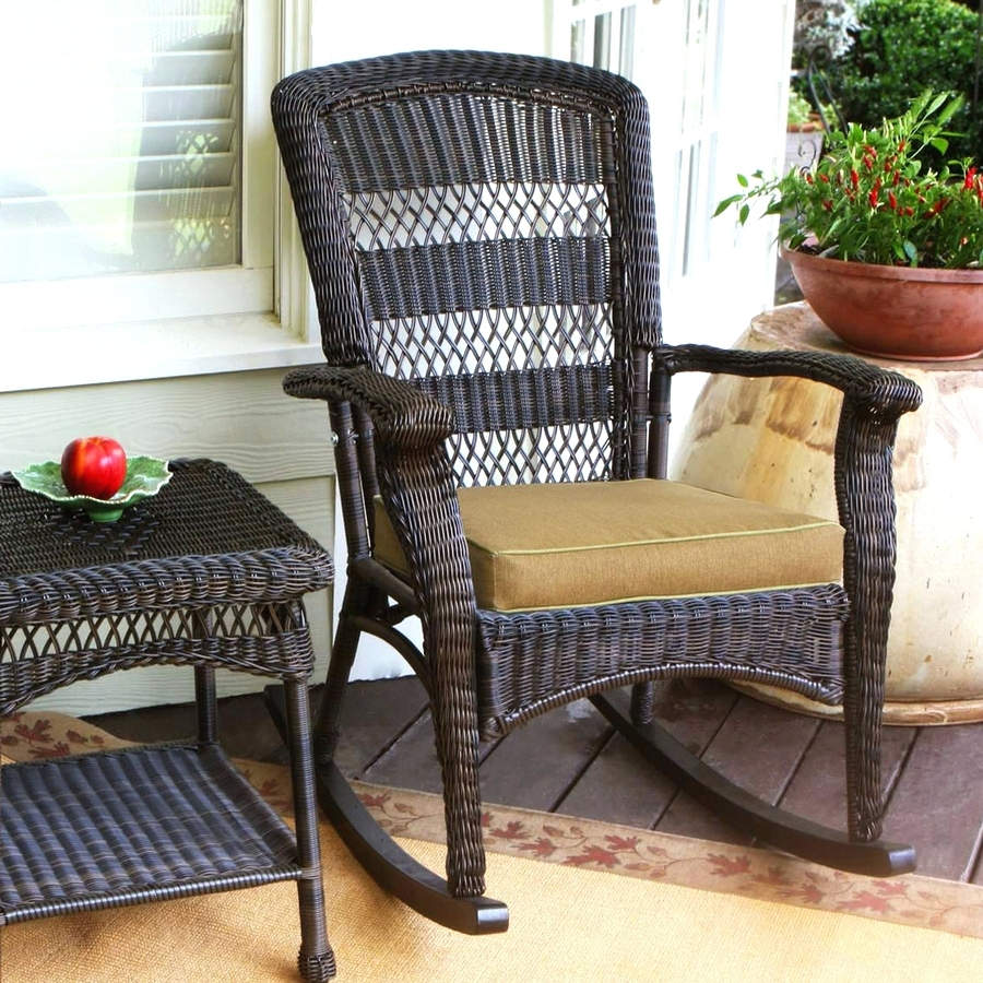 Patio Ideas ~ Best Outdoor Porch Rocking Chairs Outdoor Wicker With Regard To Famous Resin Wicker Rocking Chairs (View 8 of 20)