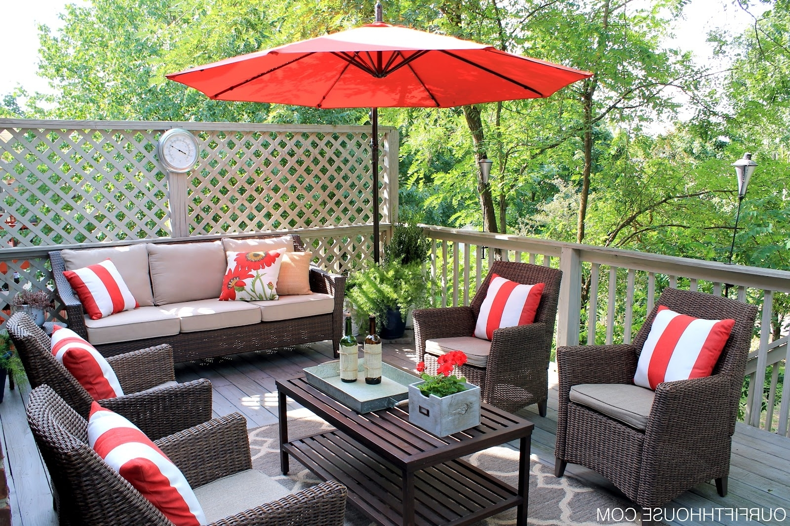 Patio : Red Patio Furniture Outdoor Conversation Sets Ideas Inside Popular Red Patio Conversation Sets (View 20 of 20)