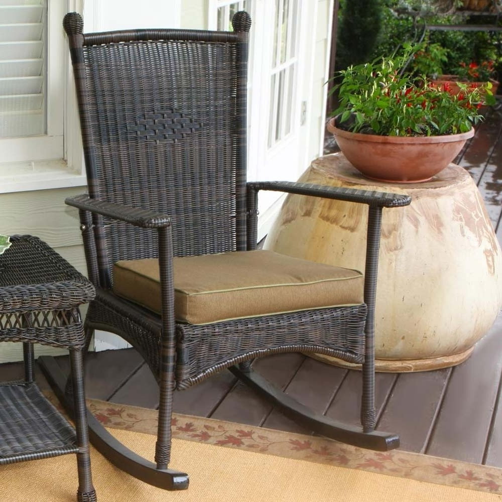 Patio Rocking Chairs Wicker : Spectacular And Sensational Patio Throughout Well Liked Rocking Chairs For Outdoors (View 16 of 20)