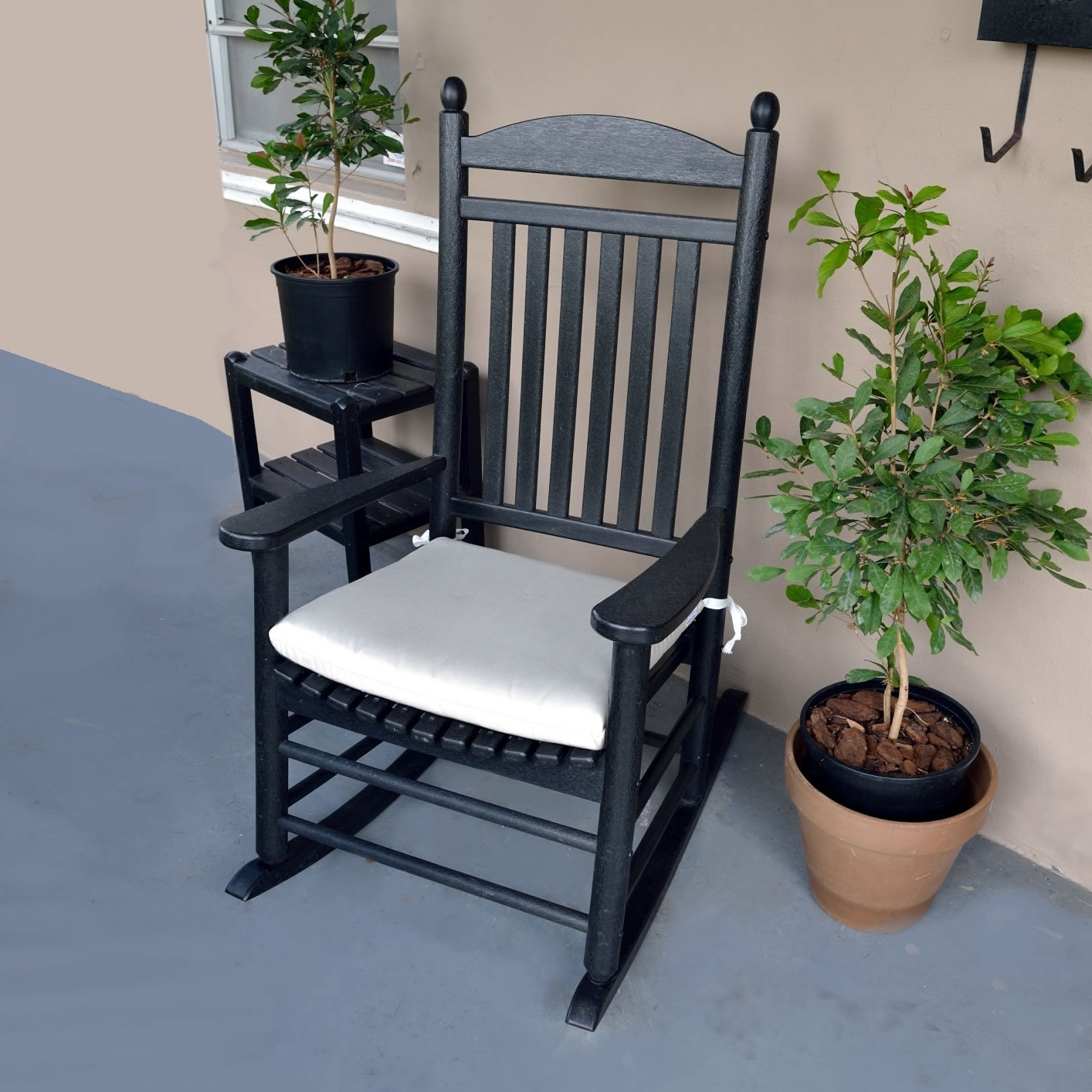 Patio Rocking Chairs With Cushions Regarding Recent Polywood Rocking Chair Seat Cushions – Outdoor Cushions – Accessories (View 10 of 20)
