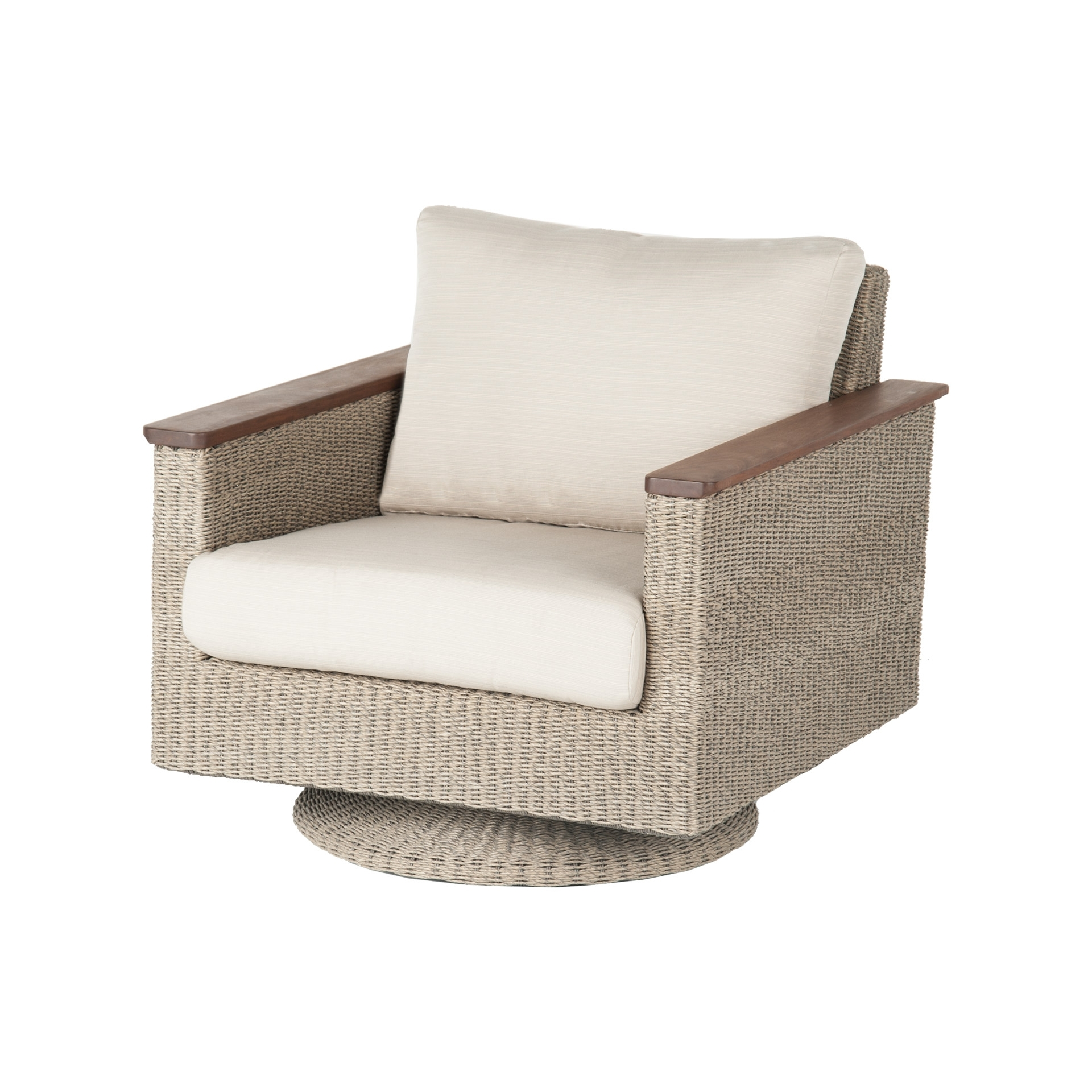 Patio Rocking Swivel Chairs Intended For Fashionable Jensen Leisure Coral Swivel Rocker – Universal Patio Furniture (View 19 of 20)