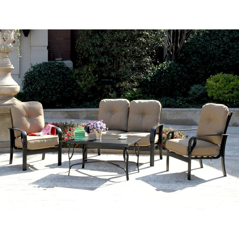 Patio Set With Sunbrella Cushions – Patio Designs Throughout Latest Patio Conversation Sets With Sunbrella Cushions (View 3 of 20)