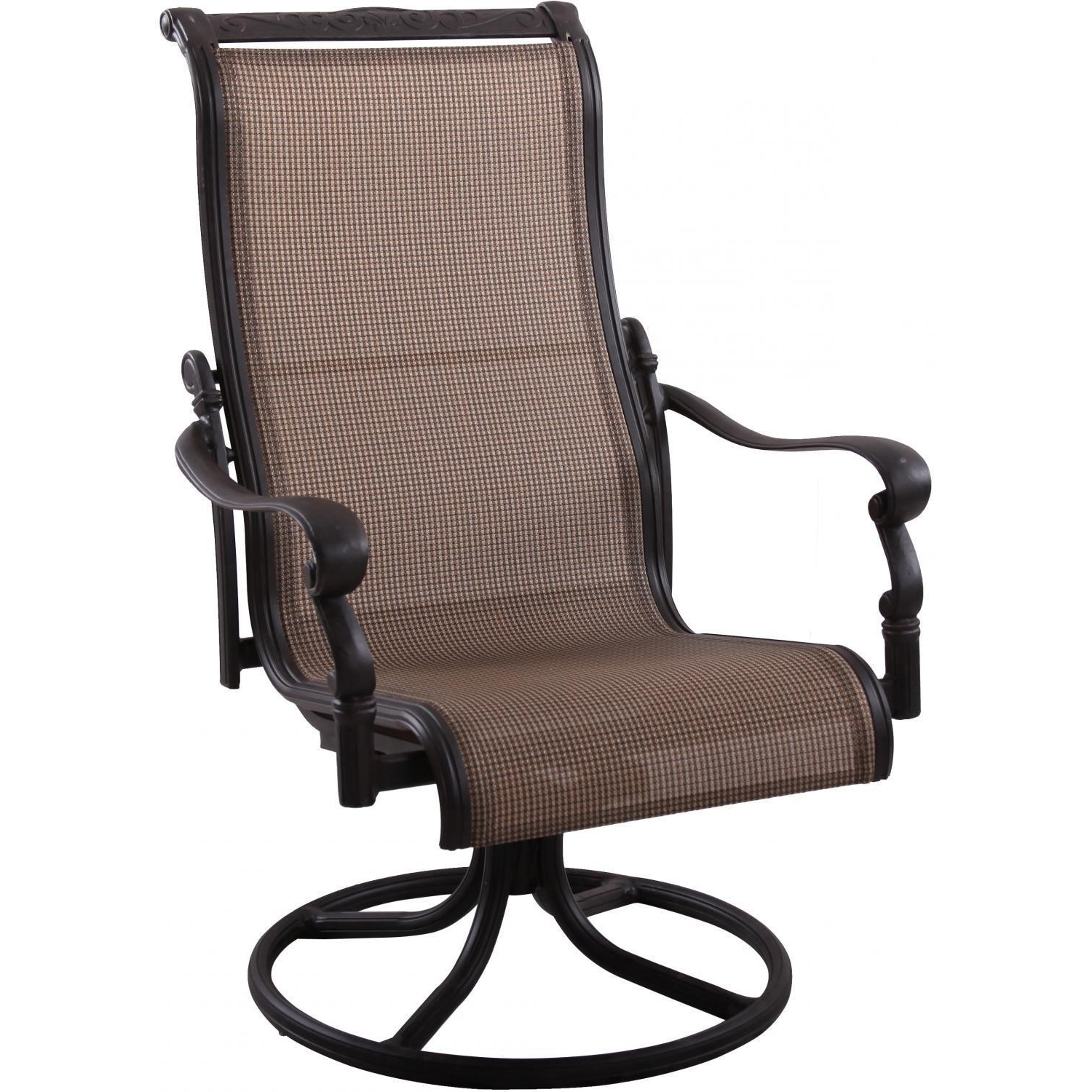 Patio Sling Rocking Chairs Throughout 2019 Darlee Monterey Sling Patio Swivel Rocker Dining Chair Tommy Bahama (View 6 of 20)