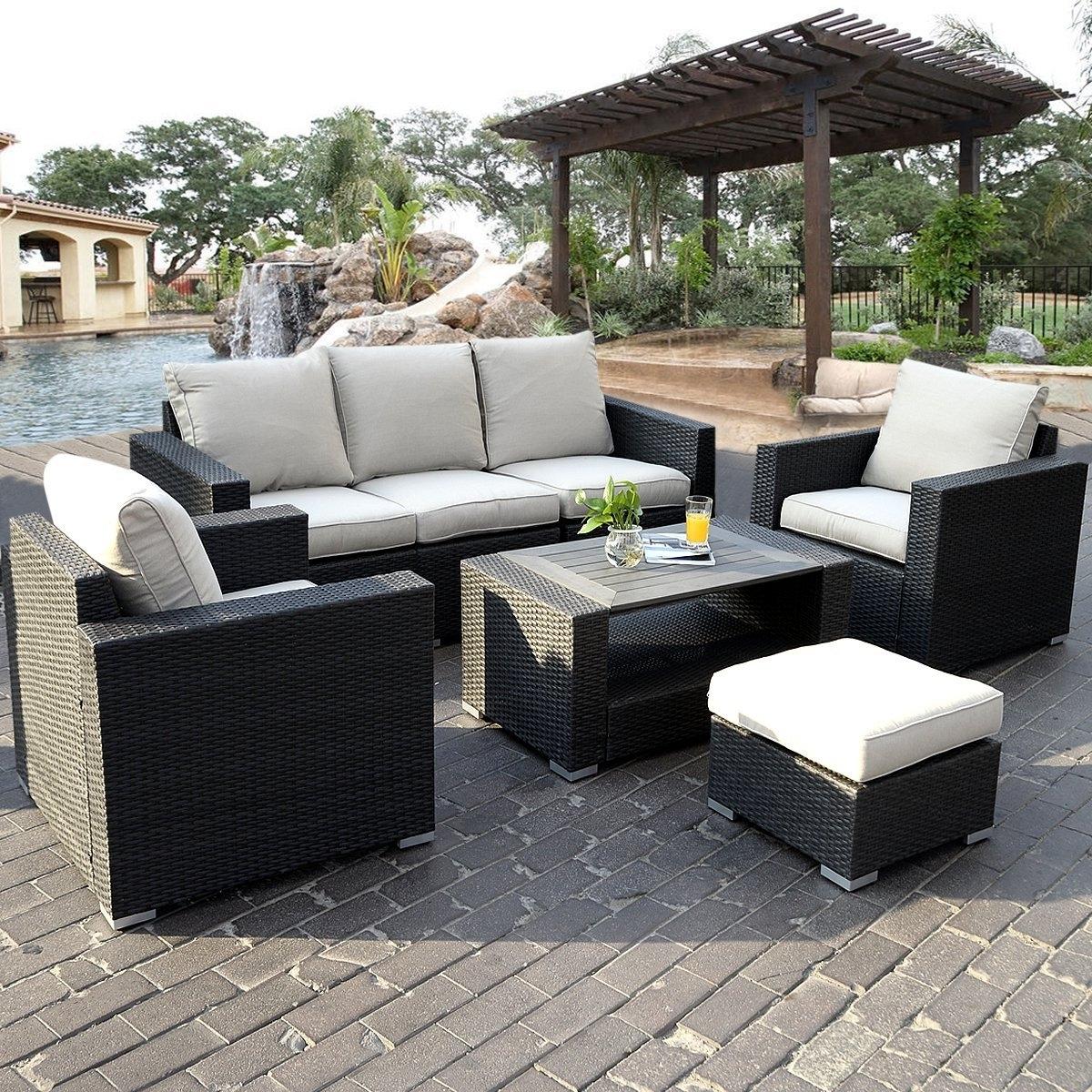 Patio Table: Black Patio Set (View 14 of 20)