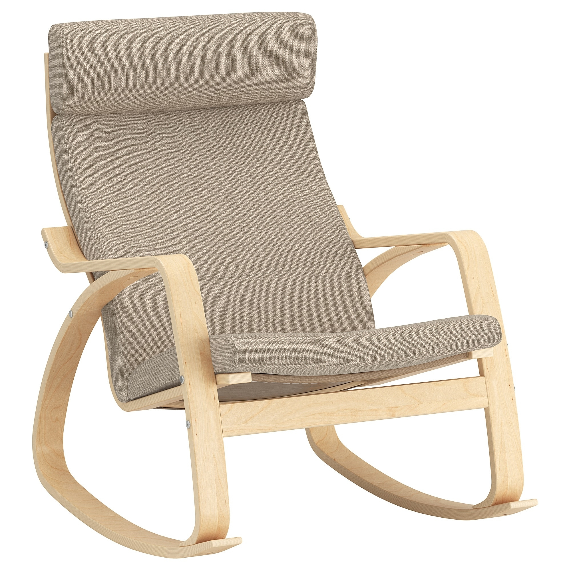 Poäng Rocking Chair Birch Veneer/hillared Beige – Ikea Inside Most Recently Released Ikea Rocking Chairs (View 16 of 20)