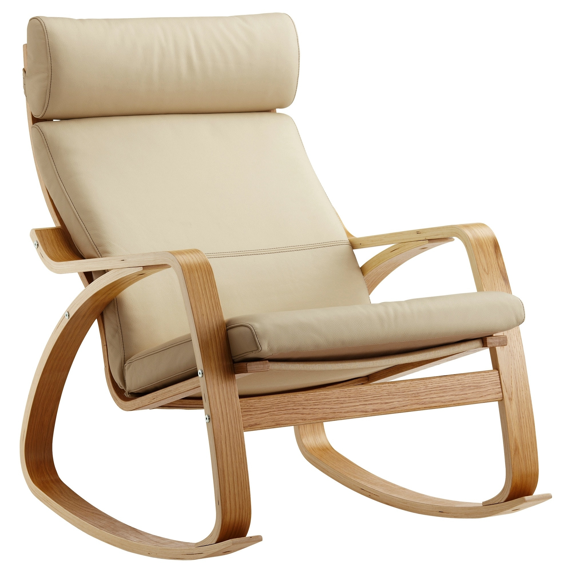 Poäng Rocking Chair Oak Veneer/glose Eggshell – Ikea Inside Well Liked Ikea Rocking Chairs (View 17 of 20)