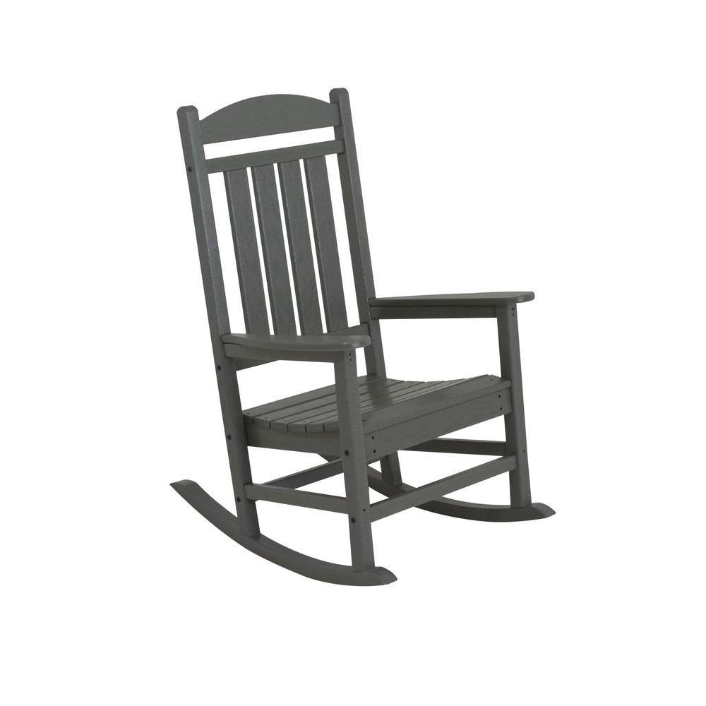 Featured Photo of Manhattan Patio Grey Rocking Chairs