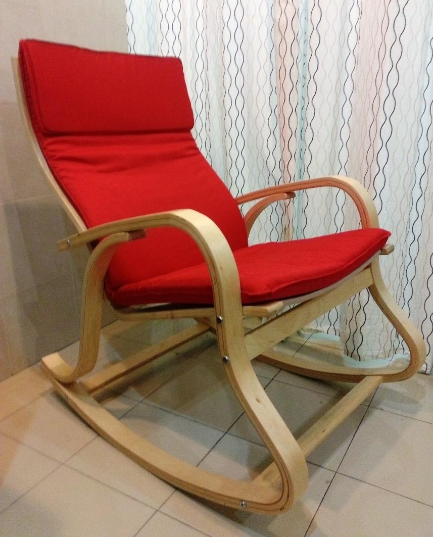 Popular Chair Table Furniture Wood Cushion So (End 8/8/2019 3:04 Pm) Intended For Ikea Rocking Chairs (View 18 of 20)