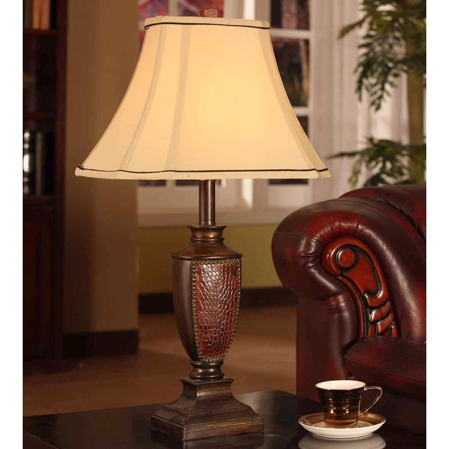 Popular Crafted With A Brushed Red Finish, This Extravagant Table Lamp Is Regarding Set Of 2 Living Room Table Lamps (View 7 of 20)