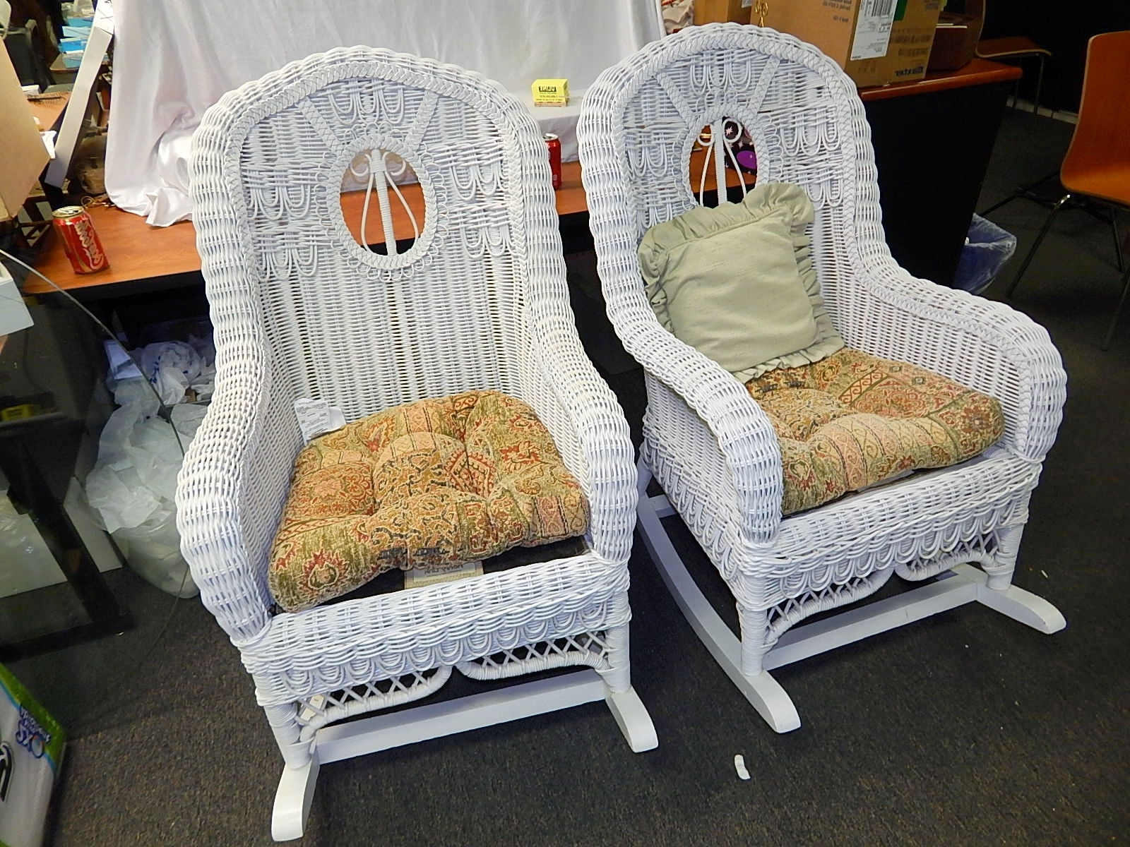 Popular Henry Link White Wicker Rocking Chair 2 Available (View 6 of 20)