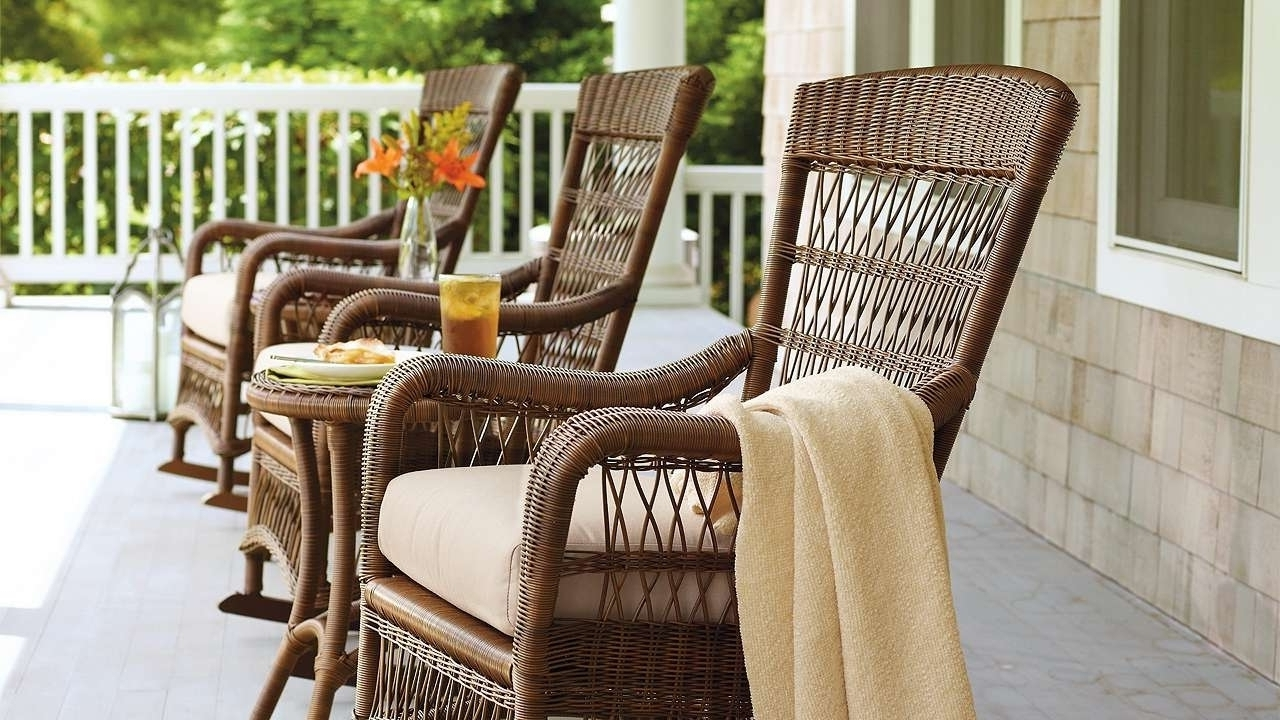 Popular Outdoor Rocking Chair Cushions Helpformycredit Pertaining To Outdoor Within Unique Outdoor Rocking Chairs (View 9 of 20)