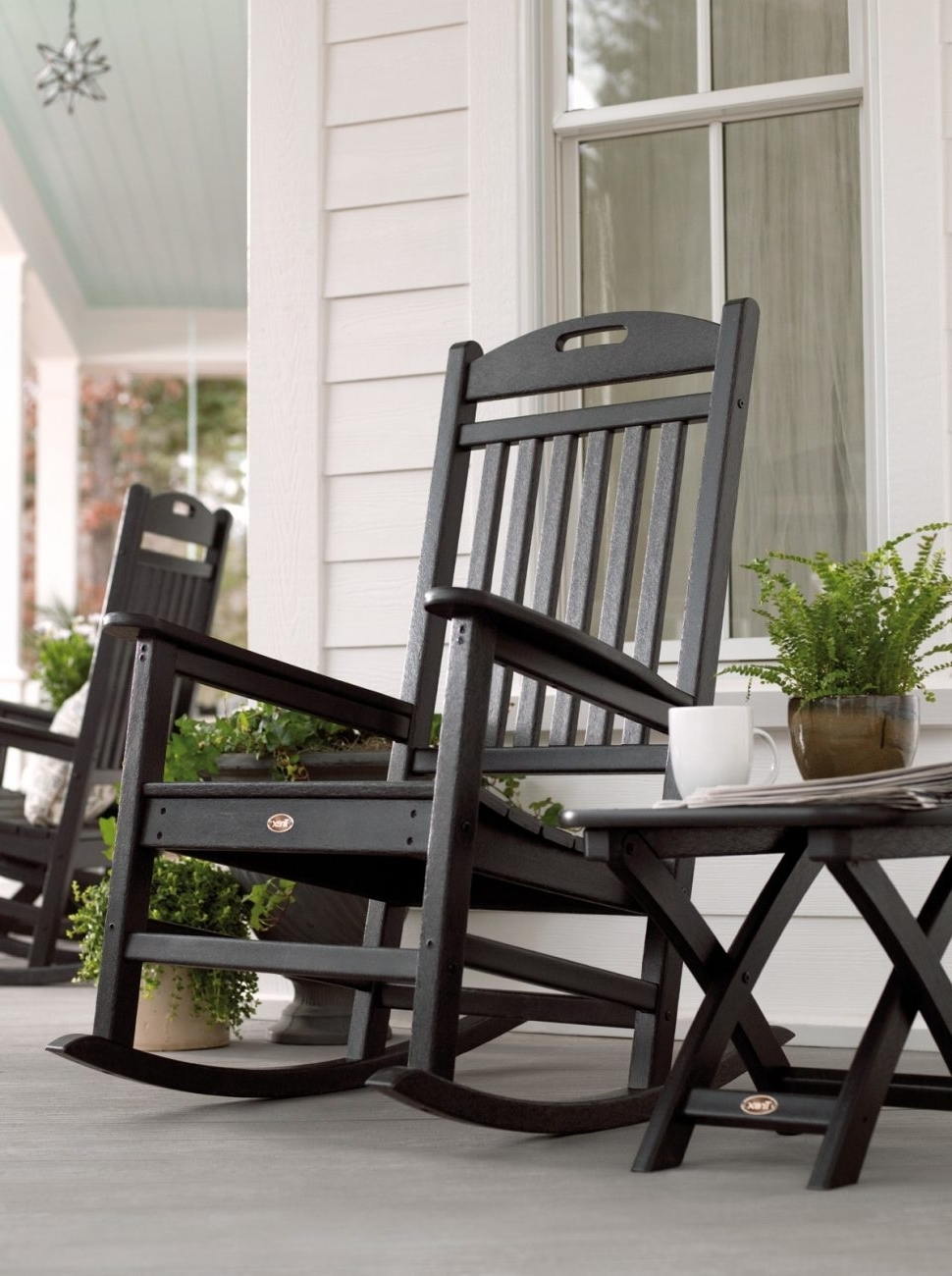 Popular Patio Rocking Chairs Sets With Patio & Garden : Beautiful Outdoor Rocking Chairs Cracker' Vinyl (View 19 of 20)