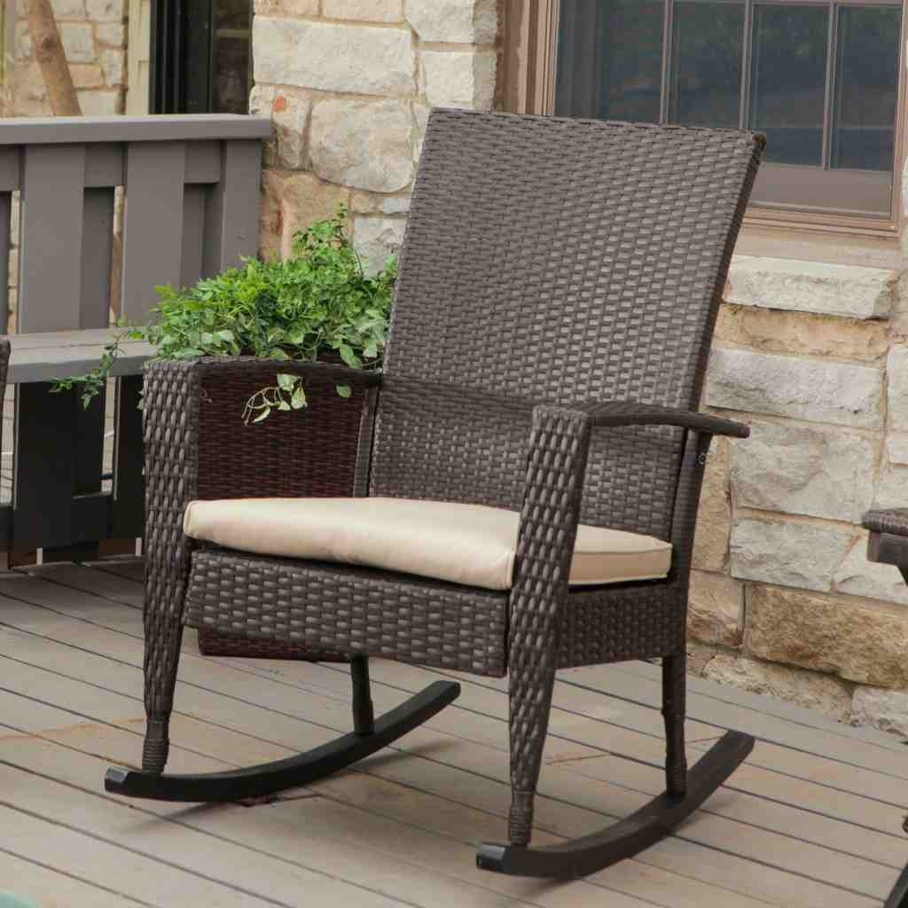 Popular Patio Rocking Chairs With Cushions Throughout Livingroom : Winsome All Weather Rocking Chairs Wicker Adirondack (View 17 of 20)