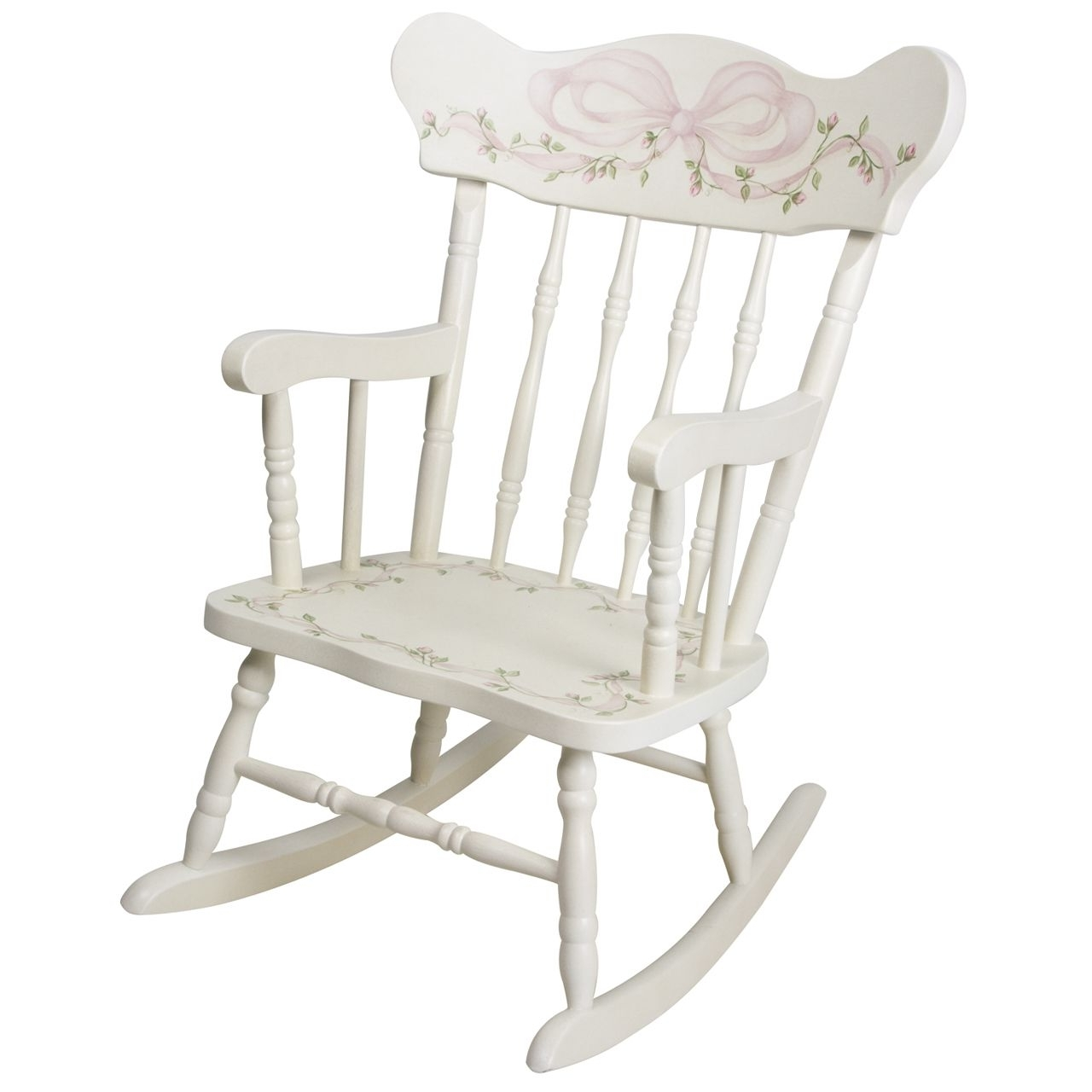 Popular Rocking Chairs At Roses For Afk Furniture – Child's Rocking Chair Ribbons And Roses, $ (View 11 of 20)