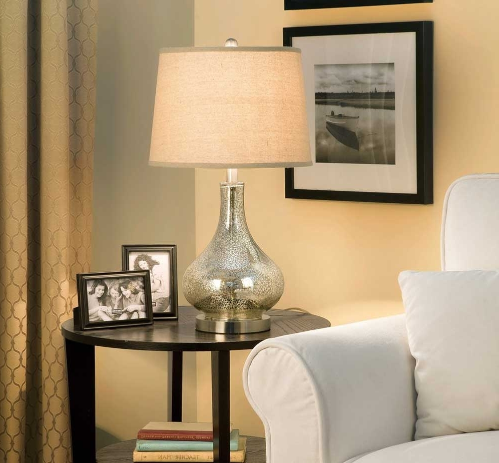 Popular Tall Table Lamps For Living Room With Regard To Astonishing Tall Table Lamps For Living Room In Glass Design (View 10 of 20)
