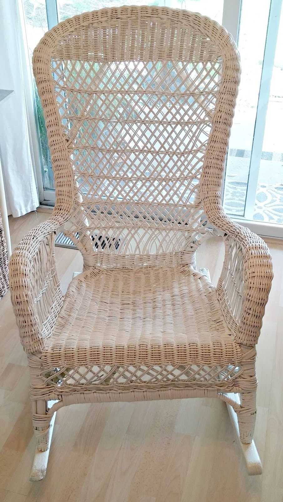 Popular Vintage Wicker Rocking Chair Makeover – Little Vintage Cottage Intended For Vintage Wicker Rocking Chairs (View 16 of 20)