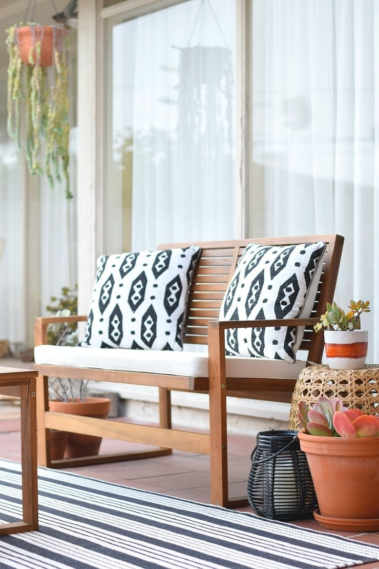 Popular Wayfair Outdoor Patio Conversation Sets Intended For Patio Furniture From Wayfair: My Indian Summer Patio Project – Art (View 15 of 20)