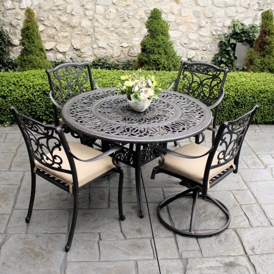 Popular Wrought Iron Patio Conversation Sets Throughout Wonderful Metal Patio Furniture Sets 12 Outside Chairs Front Porch (View 8 of 20)