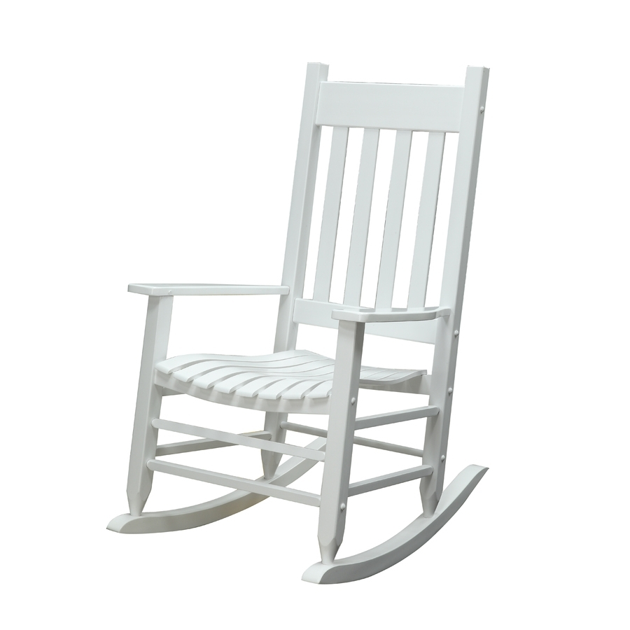 Porch Rockers Rocker White Rocking Chair Helps Garden Treasures Inside Well Liked Outdoor Vinyl Rocking Chairs (View 11 of 20)