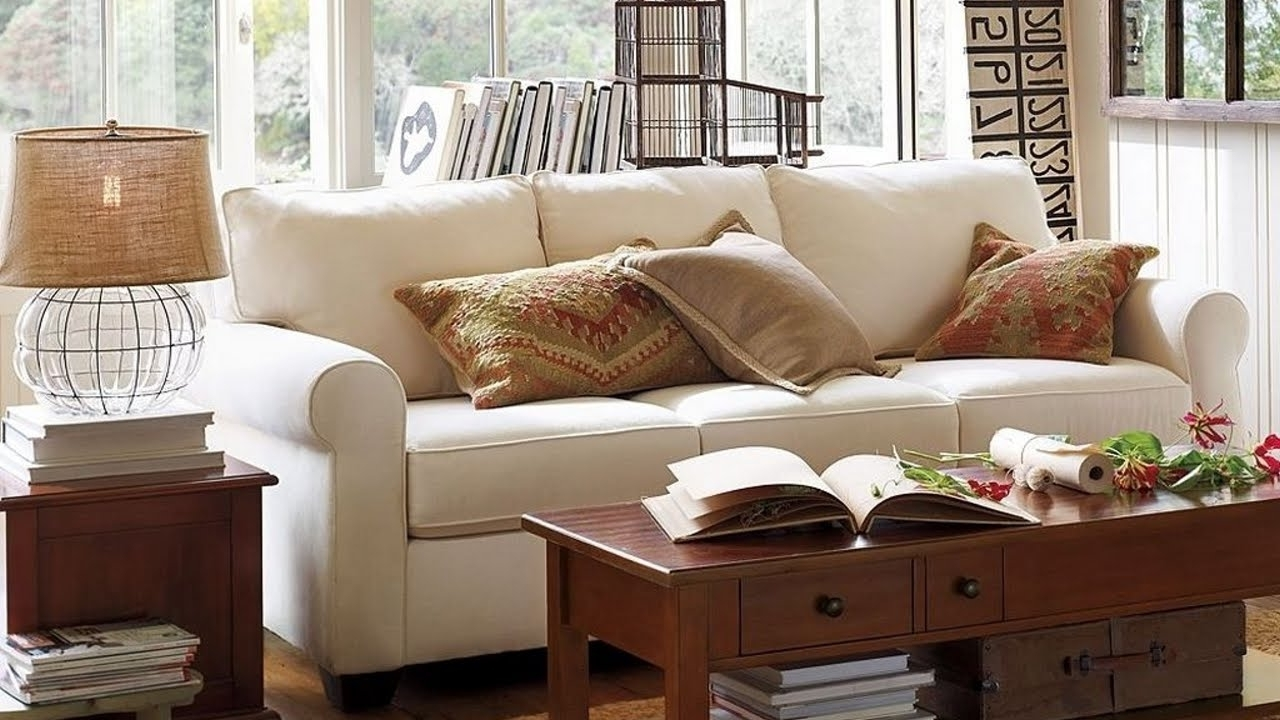 Pottery Barn Living Room With White Sofa And Table Lamp – Pottery In Most Recent Pottery Barn Table Lamps For Living Room (View 8 of 20)