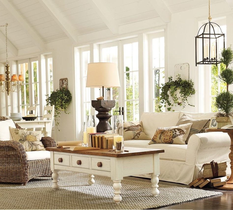 Pottery Barn Table Lamps For Living Room With Widely Used Accessories: Handsome Picture Of Living Room Decoration Using (View 11 of 20)