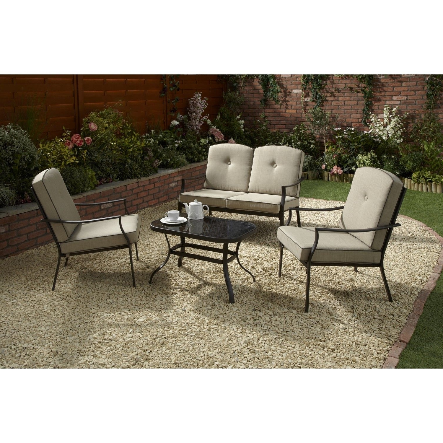 Preferred Black Patio Conversation Sets Pertaining To The Nevada Conversation Set Is The Perfect Alfresco Dining Companion (View 17 of 20)