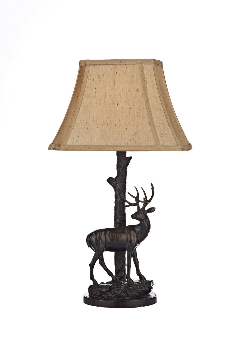 Preferred Bronze Living Room Table Lamps With Regard To Dar Lighting Gul5522/x Gulliver Deer Table Lamp Complete With Shade (View 11 of 20)