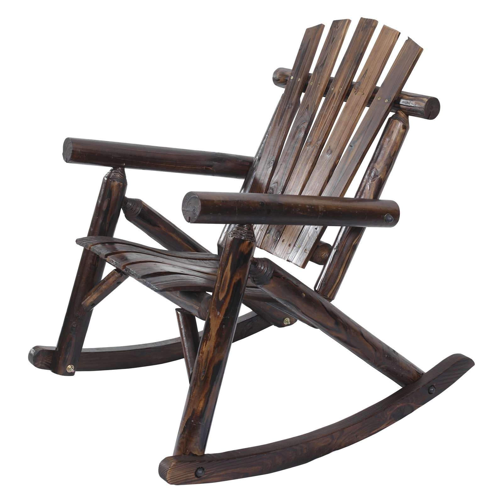 Preferred Char Log Patio Rocking Chairs With Star Inside Leigh Country Char Log Single Rocker With Star Master Outdoor (View 17 of 20)