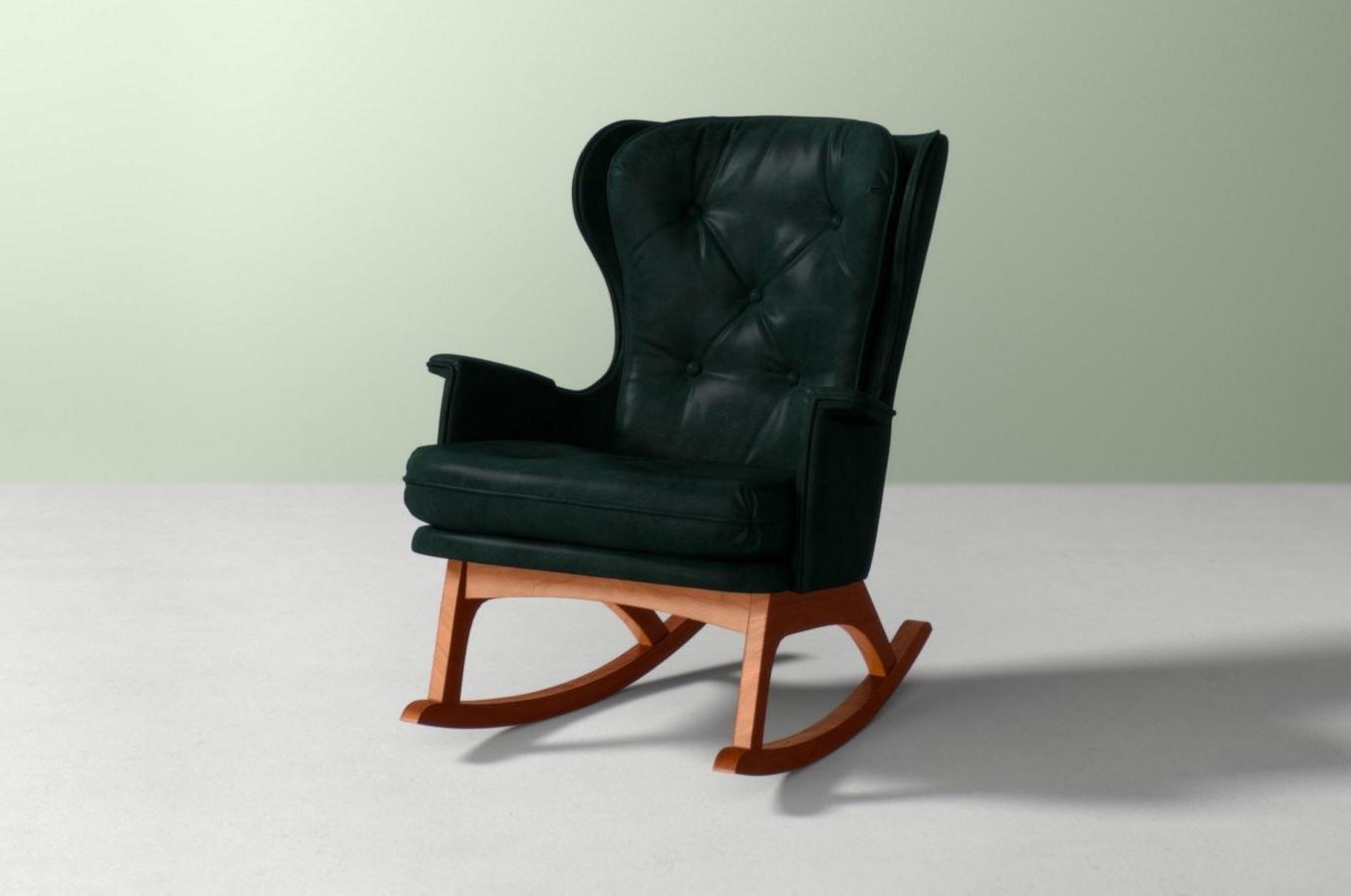 Preferred Finn Rocking Chair Anthropologie Wnat Leather Resin Wicker Rocker Regarding Resin Wicker Rocking Chairs (View 9 of 20)