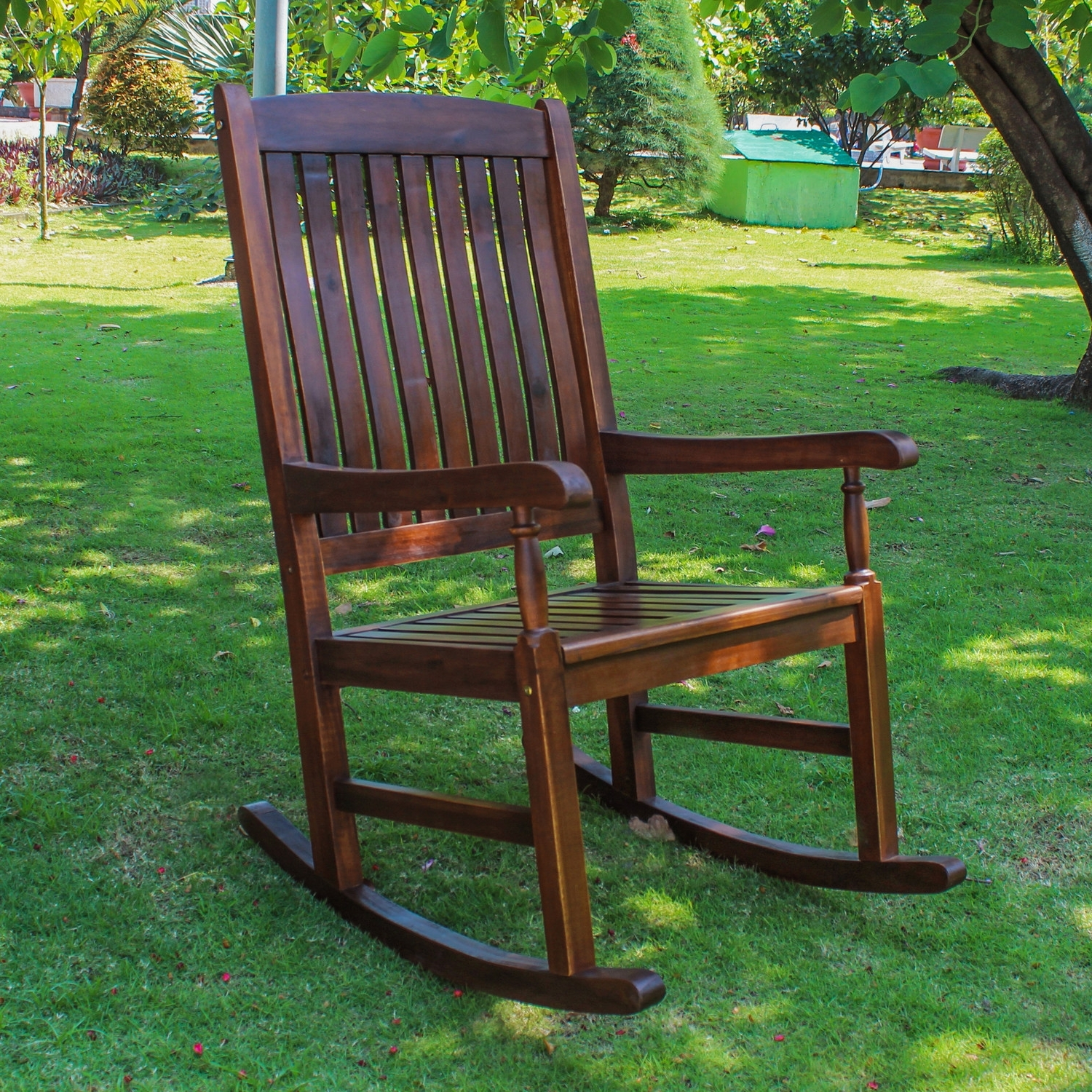 Preferred Garden & Patio Furniture : Wooden Outdoor Rocking Chairs Wooden Within Rocking Chairs For Garden (View 9 of 20)