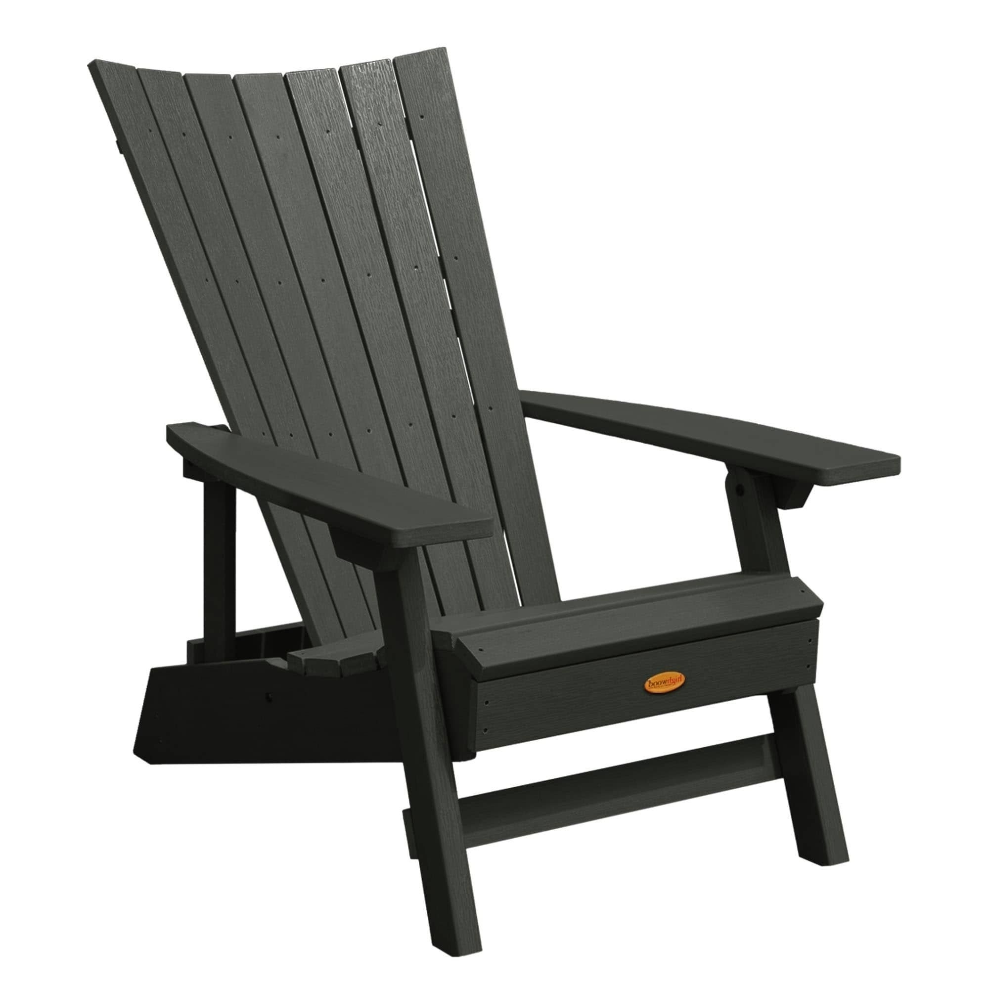 Preferred Highwood Manhattan Beach Adirondack Chair (Black), Size Single Pertaining To Manhattan Patio Grey Rocking Chairs (View 13 of 20)