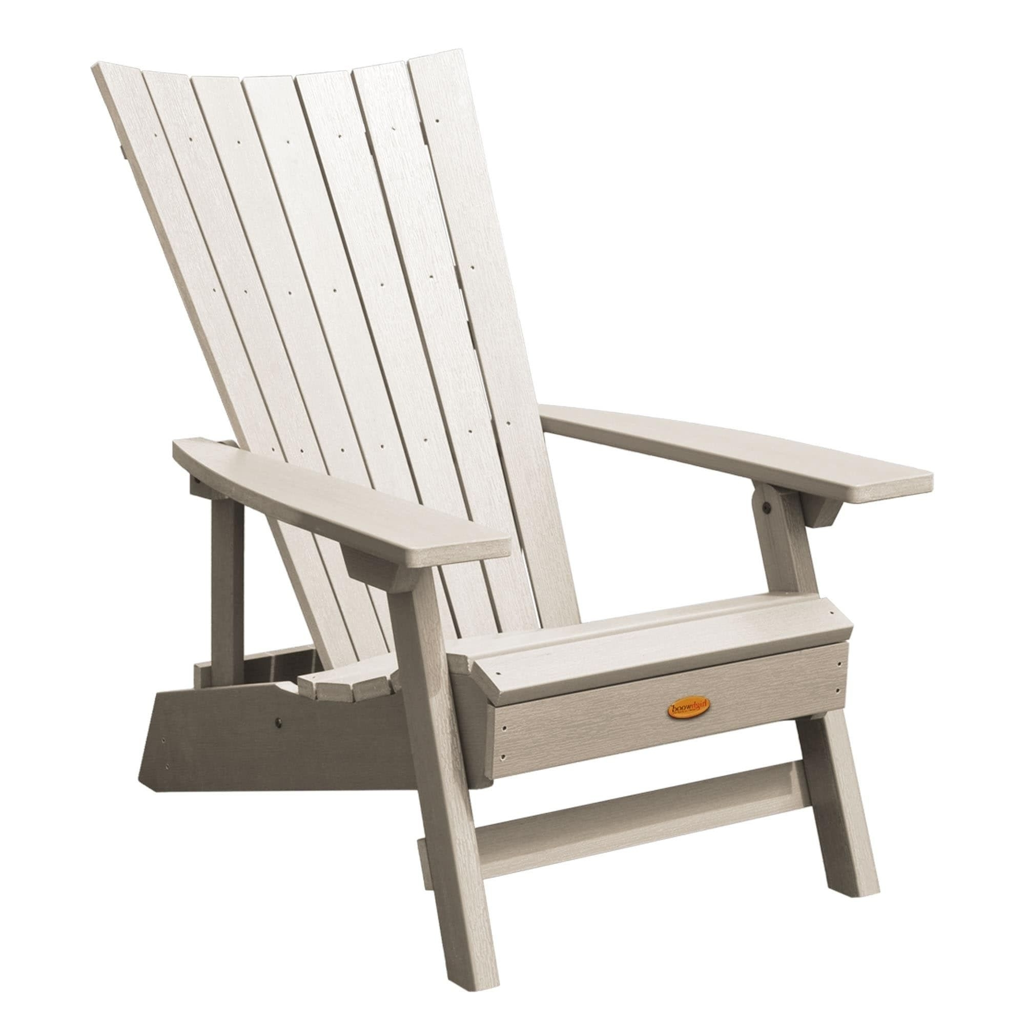 Preferred Manhattan Patio Grey Rocking Chairs Intended For Highwood Manhattan Beach Adirondack Chair (black), Size Single (View 4 of 20)