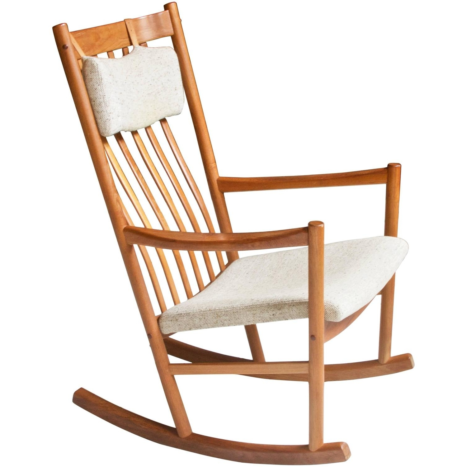 Preferred Pair Of Vintage Rope Seat Rocking Chairs For Sale At 1stdibs With Regard To Retro Rocking Chairs (View 6 of 20)