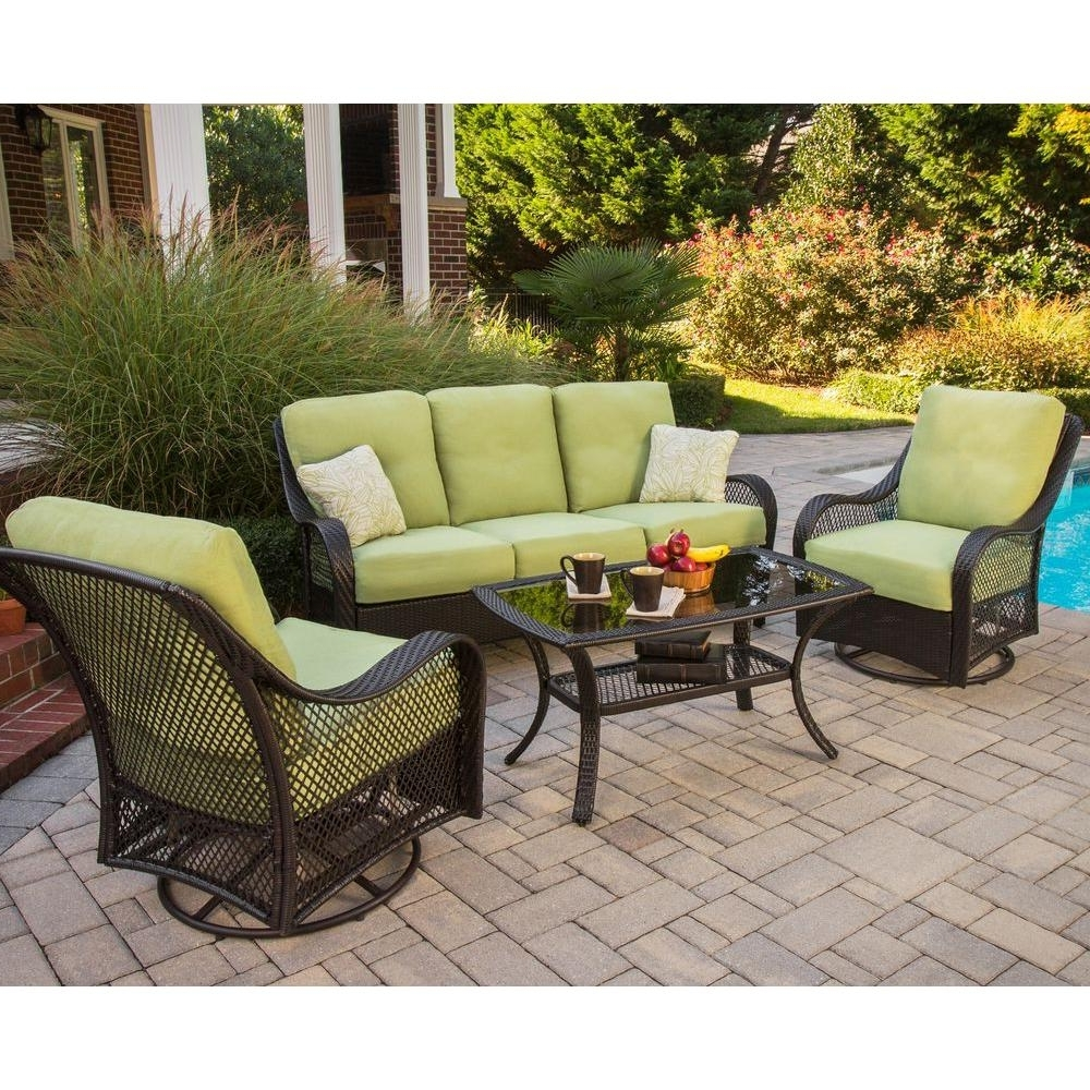 Preferred Patio Conversation Sets With Glider Intended For Lovable Conversation Patio Sets Exterior Decor Concept Patio (View 4 of 20)
