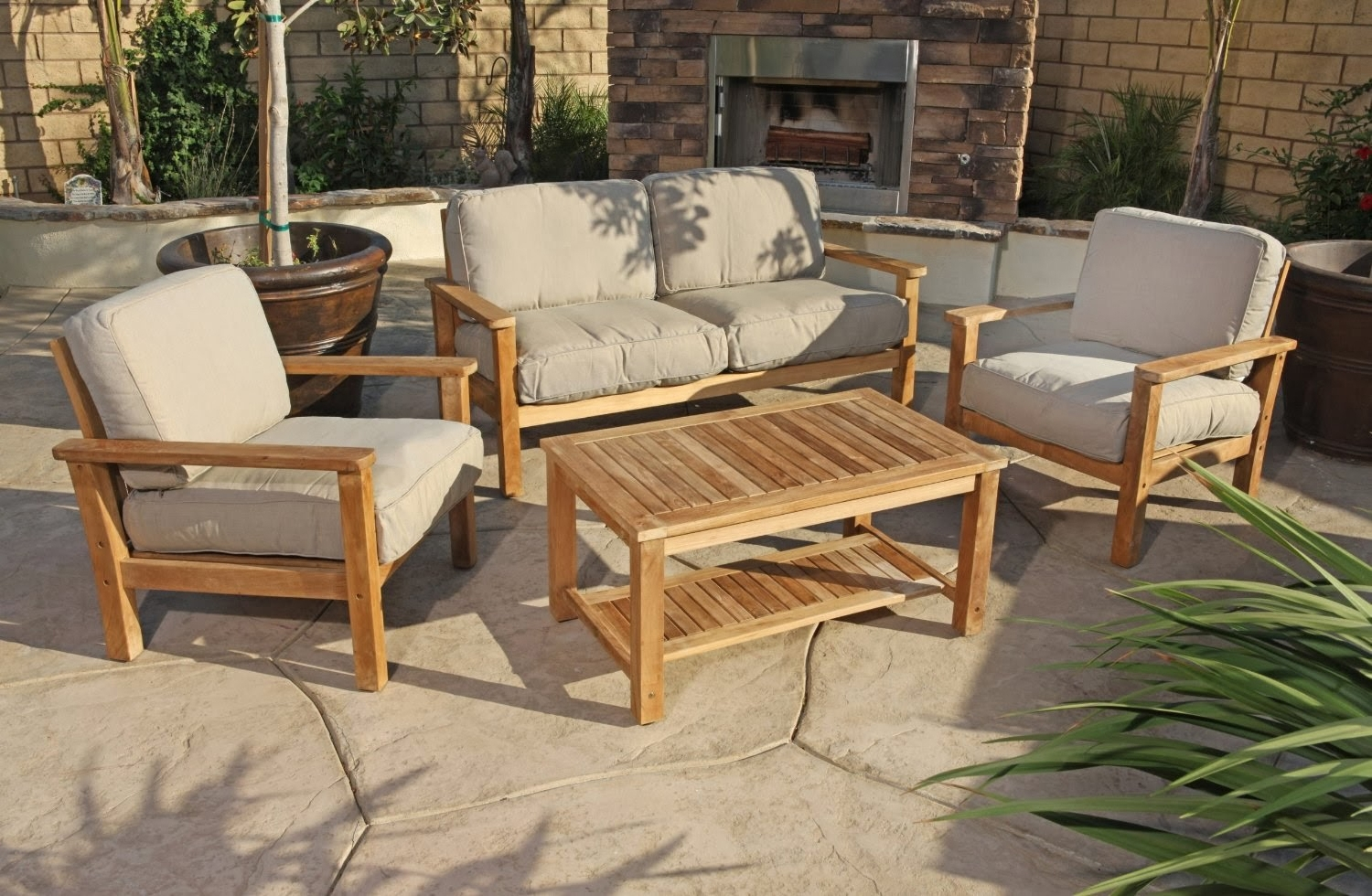 Preferred Patio : Teak Patio Conversation Sets Outdoor Lounge Furniture The Within Teak Patio Conversation Sets (View 5 of 20)