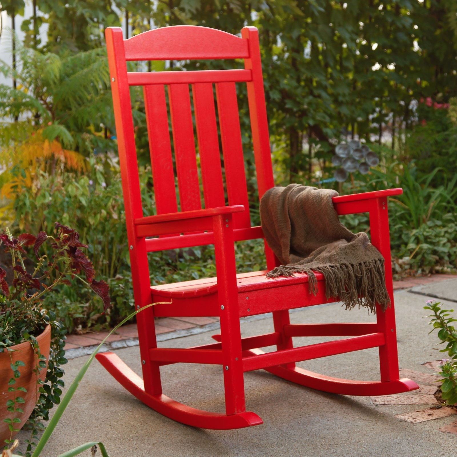 Preferred Polywood® Presidential Recycled Plastic Rocking Chair – Walmart With Plastic Patio Rocking Chairs (View 17 of 20)