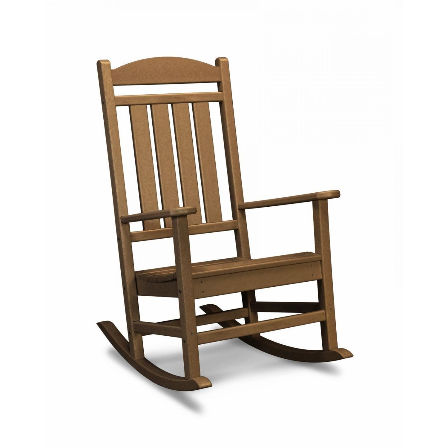 Preferred Polywood Presidential Recycled Plastic Wood Patio Rocking Chair Intended For Teak Patio Rocking Chairs (View 11 of 20)