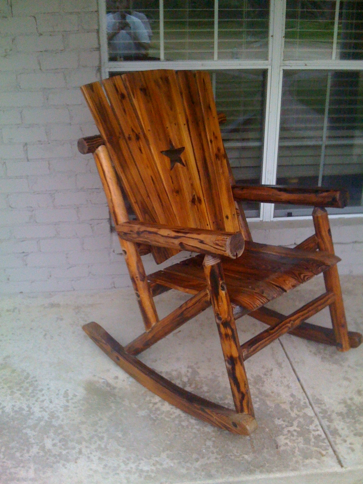 Preferred Rocking Chairs For Outdoors Regarding Outdoor Wooden Rocking Chairs Rustic : Pleasure Outdoor Wooden (View 9 of 20)