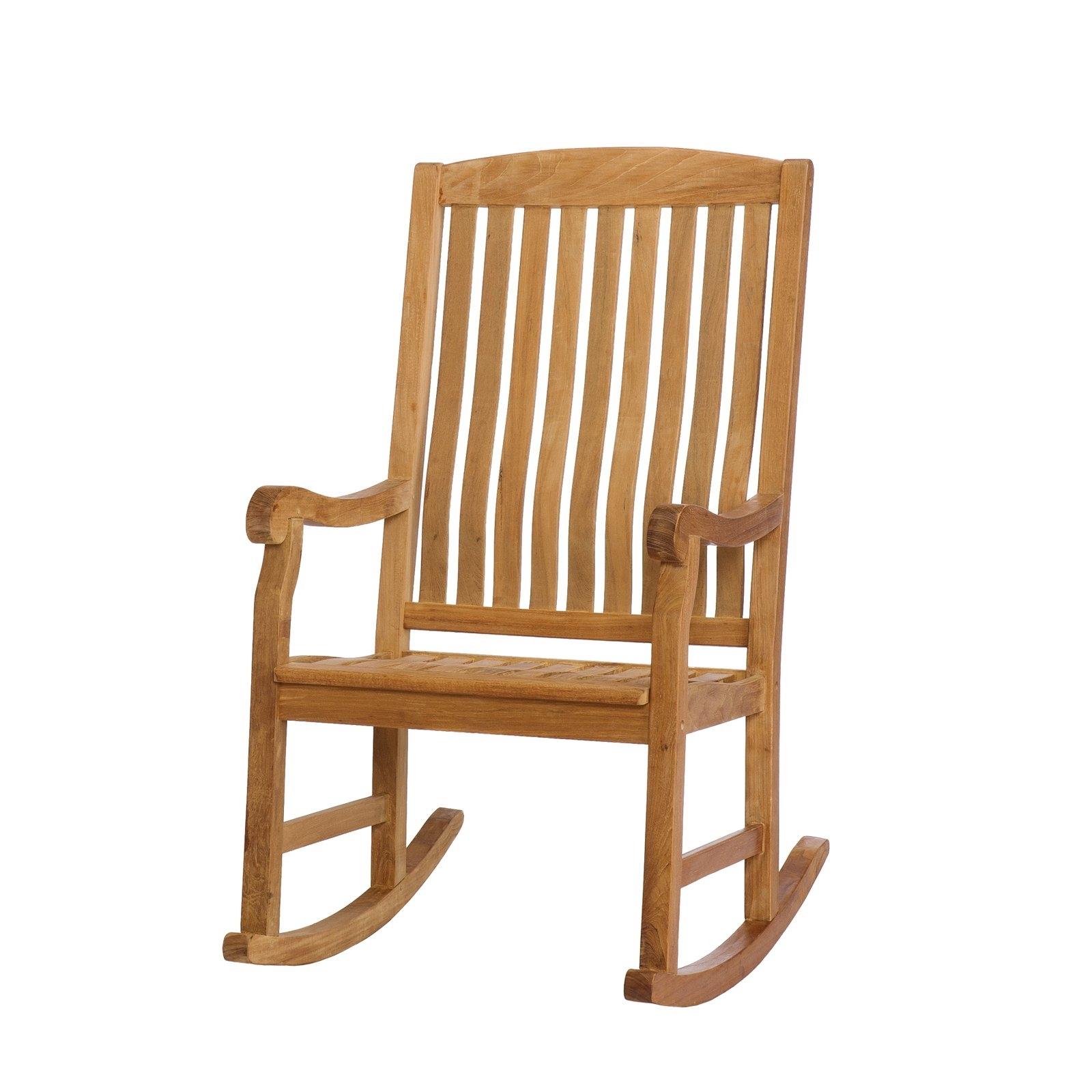 Preferred Teak Patio Rocking Chairs With Southern Enterprises Teak Porch Rocker – Natural Oil – Walmart (View 12 of 20)