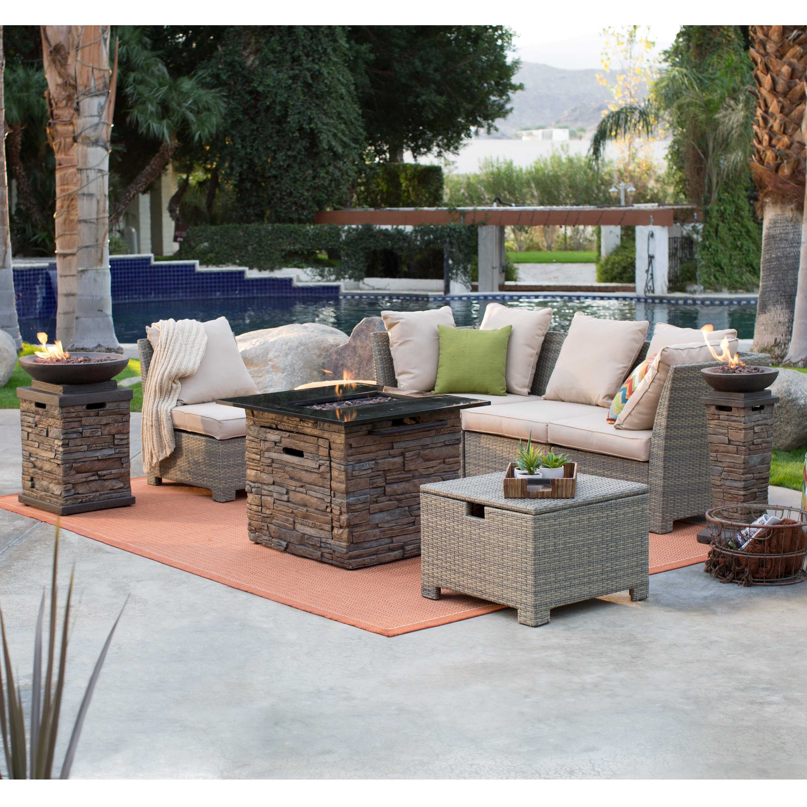 Preferred Unlimited Gas Fire Pit Conversation Set Fortune Outdoor Patio With With Regard To Patio Conversation Sets With Propane Fire Pit (View 3 of 20)