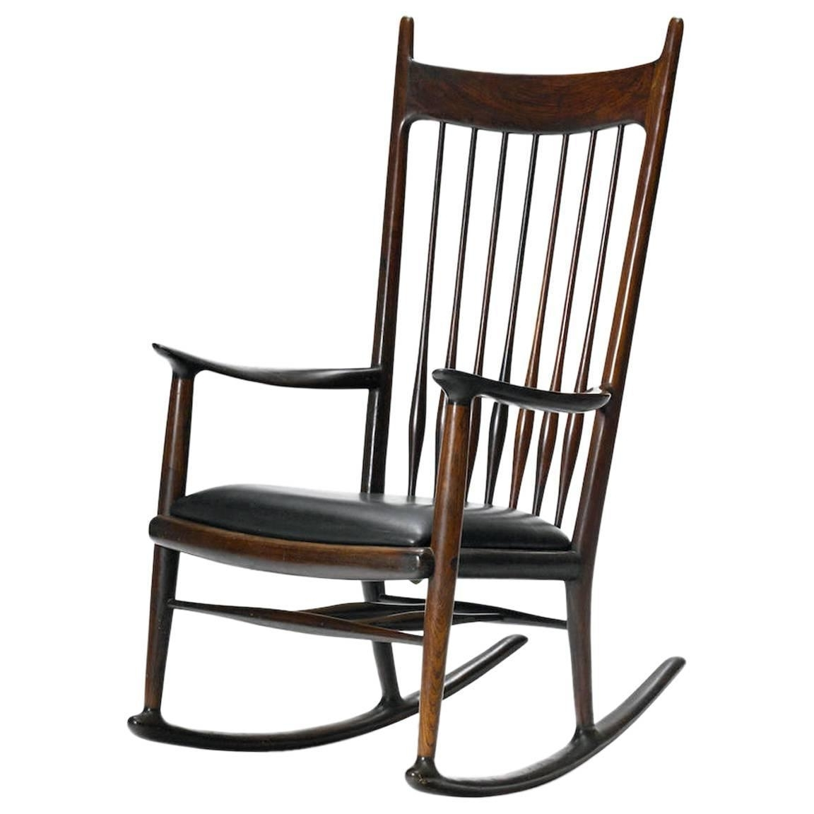 Rare Early Rosewood Rocking Chairsam Maloof For Sale At 1Stdibs Within Recent Rocking Chairs At Sam's Club (View 12 of 20)