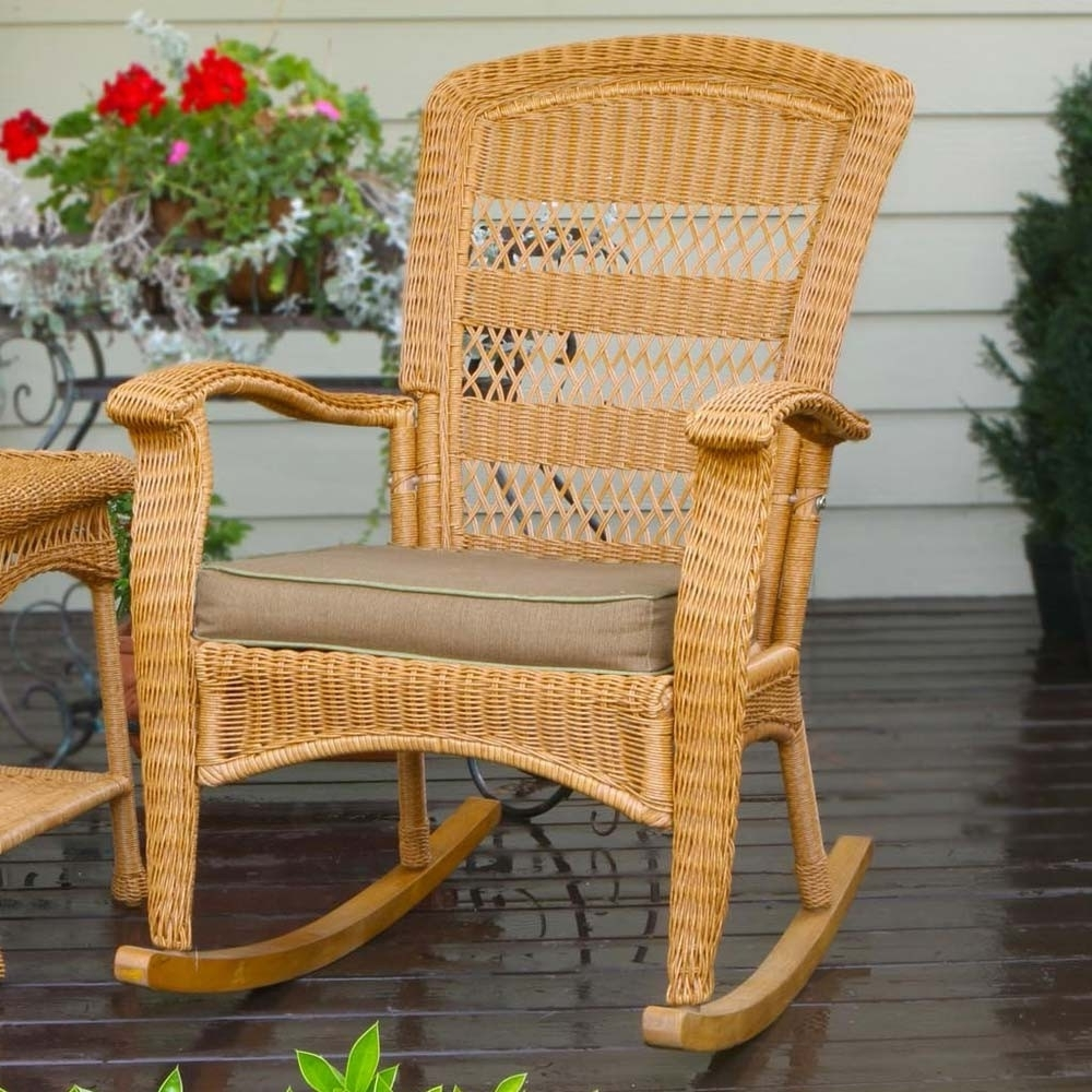 Rattan Outdoor Rocking Chairs For 2019 Top Cozy Outdoor Wicker Rocking Chairs : Sathoud Decors – Cozy (View 11 of 20)