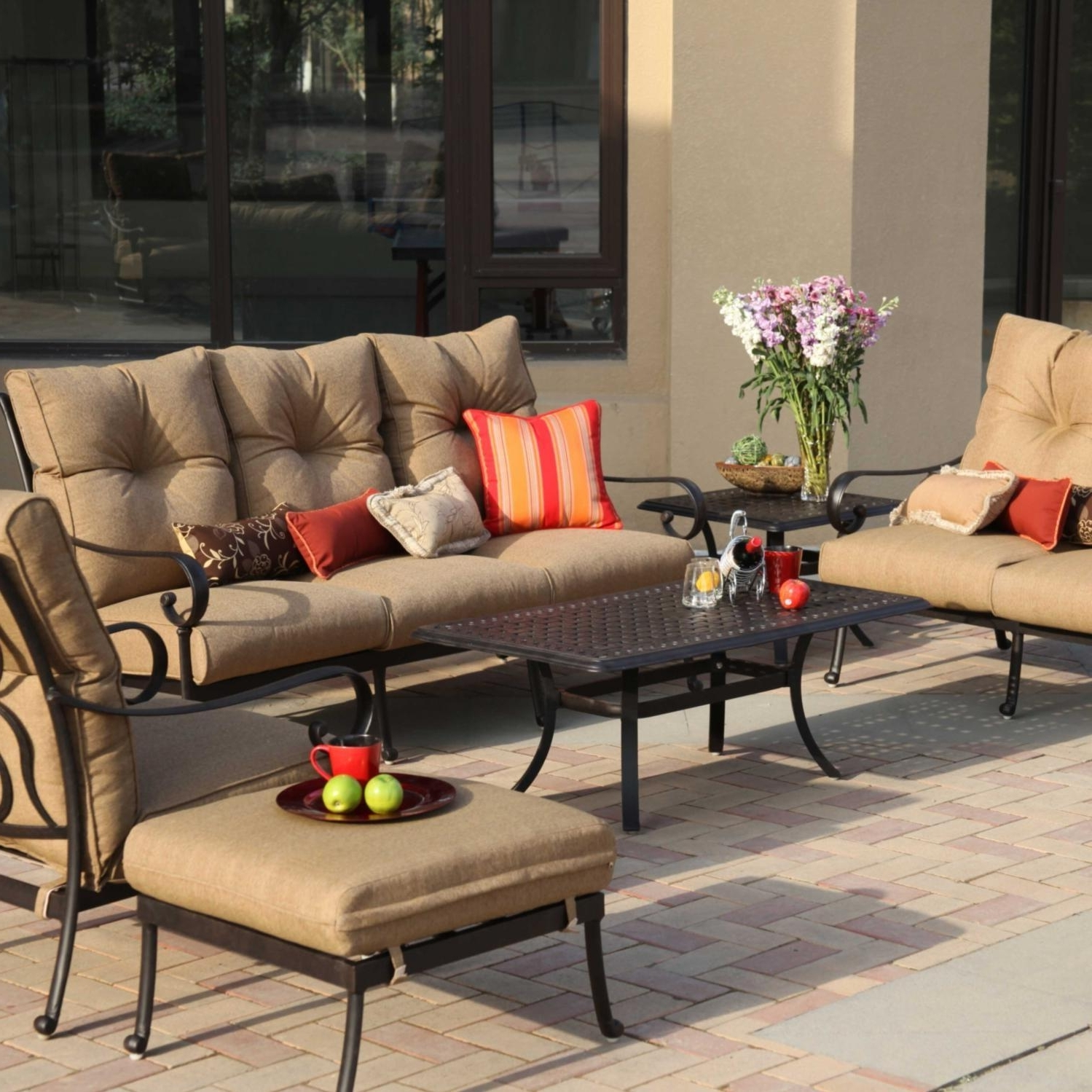Recent Darlee Santa Anita 6 Piece Aluminum Patio Conversation Seating Set For Aluminum Patio Conversation Sets (Gallery 1 of 20)