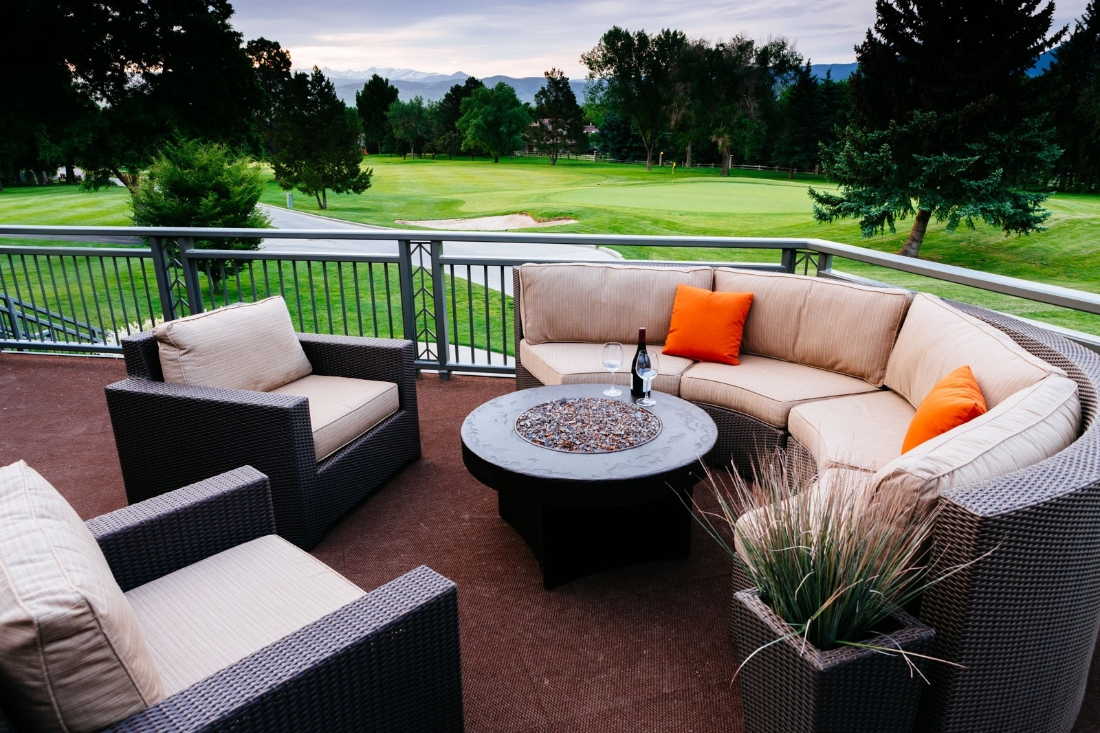 Recent Patio Conversation Sets With Gas Fire Pit Regarding Decoration : Outdoor Sectional With Fire Pit Propane Fire Pit Set (View 7 of 20)