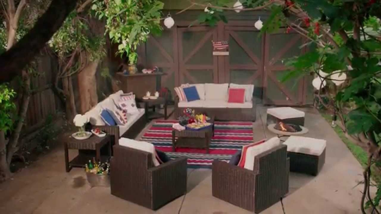 Recent Pier 1 Imports: Host A Festive Americana Themed Outdoor Bbq – Youtube Intended For Pier One Patio Conversation Sets (View 16 of 20)